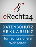 Siegel Datenschutzerklärung in blau